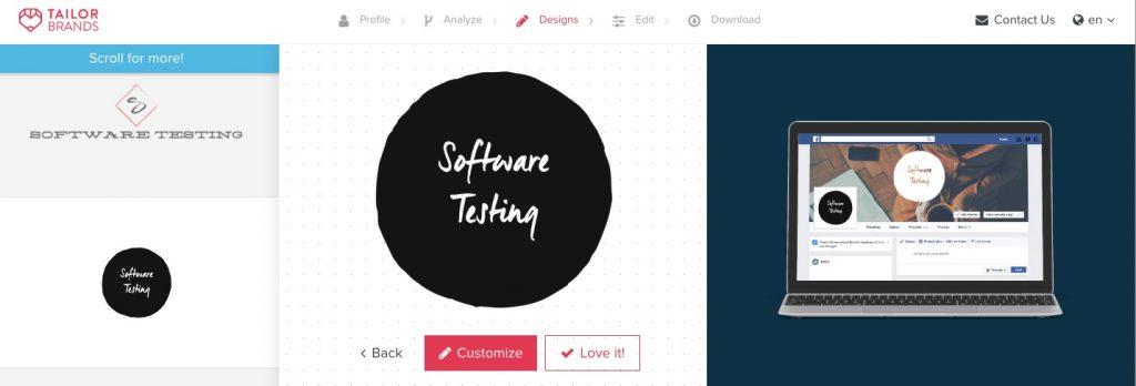 TailorBrands Testing Logo