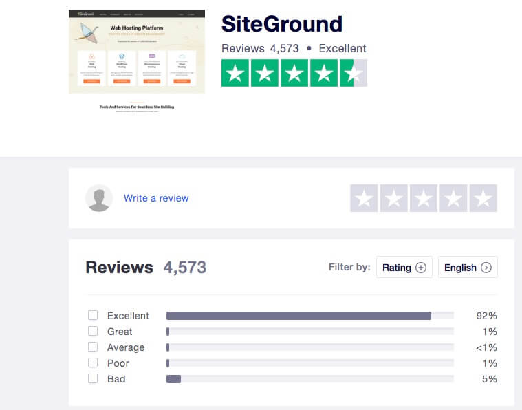 SG review by Trustpilot