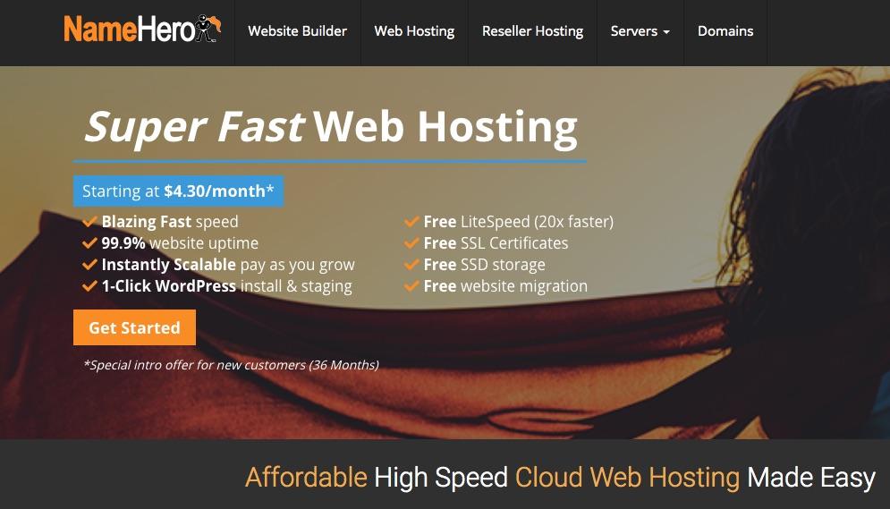 NameHero Hosting Features
